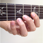 Fingering guitar scales