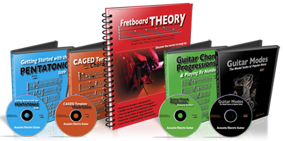 Guitar theory book and DVDs