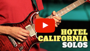 hotel california solos lesson with tab