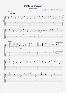 Cliffs of Dover Verse Chorus Tab