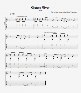 Green River Riff Tab