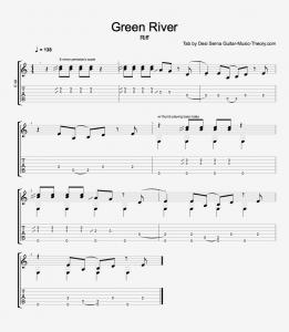 Green River Riff Tab
