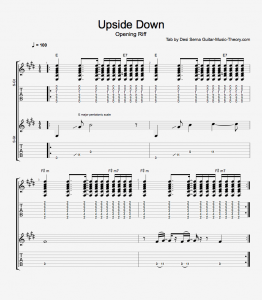 Upside Down Riff Tab