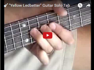 """Yellow Ledbetter"" Guitar Solo Tab"