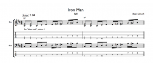 Iron Man Pentatonic Chromatic Blues Scale Riff