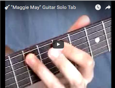 """Maggie May"" Guitar Solo Tab"
