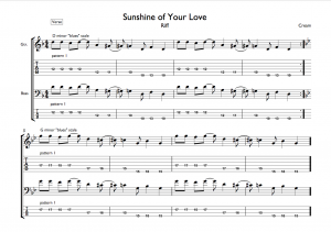 Sunshine of Your Love Riff Tab