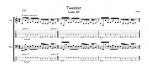 Tweezer Pentatonic Guitar Riff Tab