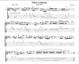 Yellow Ledbetter Guitar Solo Tab