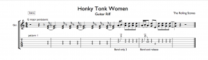 honky tonk women guitar intro tab