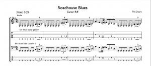 roadhouse blues guitar riff tab