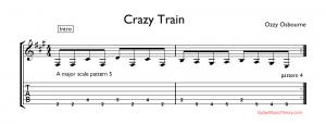 crazy train tab