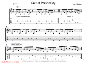 cult of personality riff tab