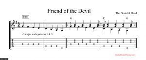 friend of the devil tab