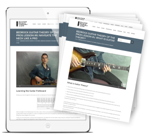 "FREE 6-Step Email Course ""Bedrock Guitar Theory of the Pros"""