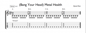 bang your head metal health tab verse chords