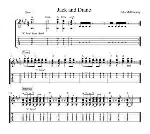 jack and diane tab