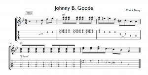 johnny b. goode tab partial introduction