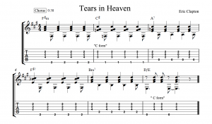 tears in heaven tab chorus chords
